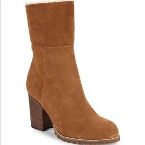Jovie Faux Fur Trim Suede Boots